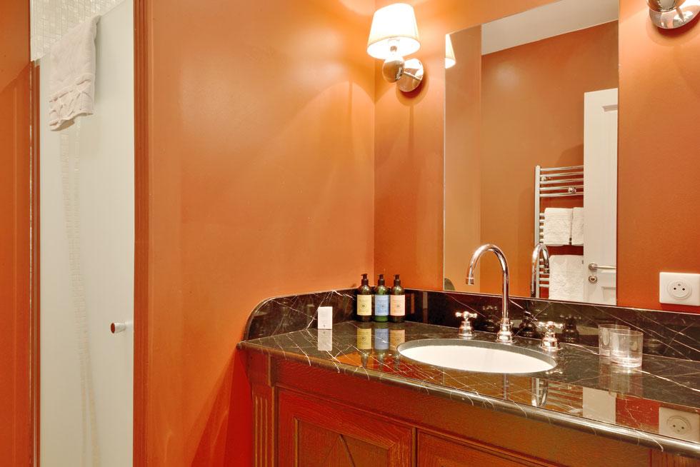 La salle d'eau avec douche à l'italienne de l'Appartement - Villa Victor Louis