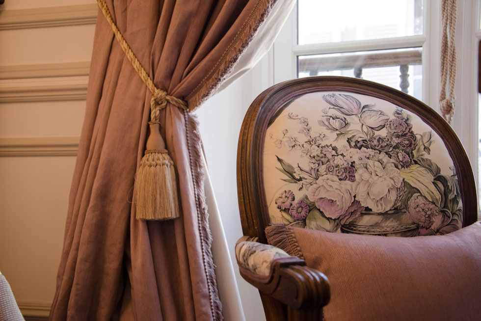 Détail d'une chambre Classique - Villa Victor Louis